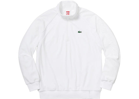 Supreme LACOSTE Velour Half-Zip Track Top White
