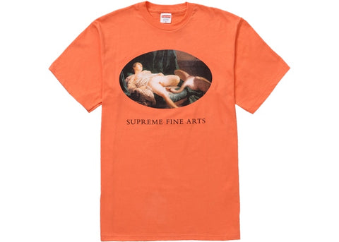 Supreme Leda and the Swan Tee Neon Orange