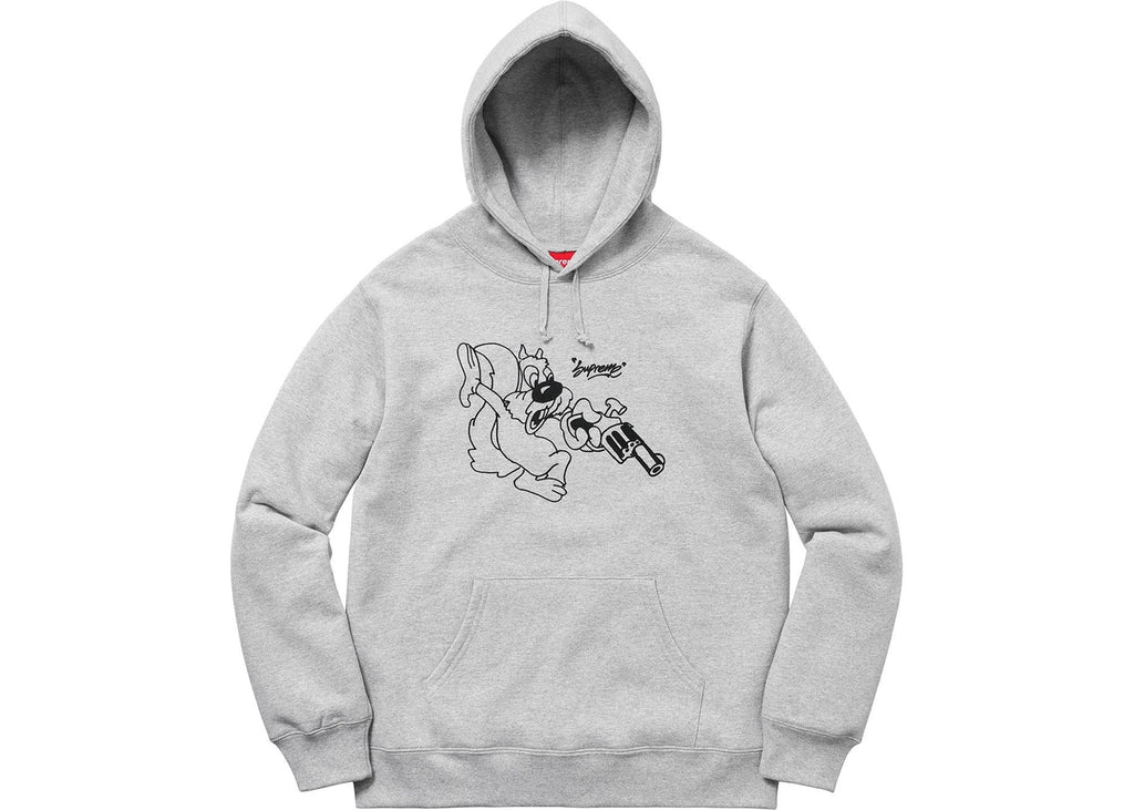 Supreme Lee Hooded Sweatshirt Heather Grey