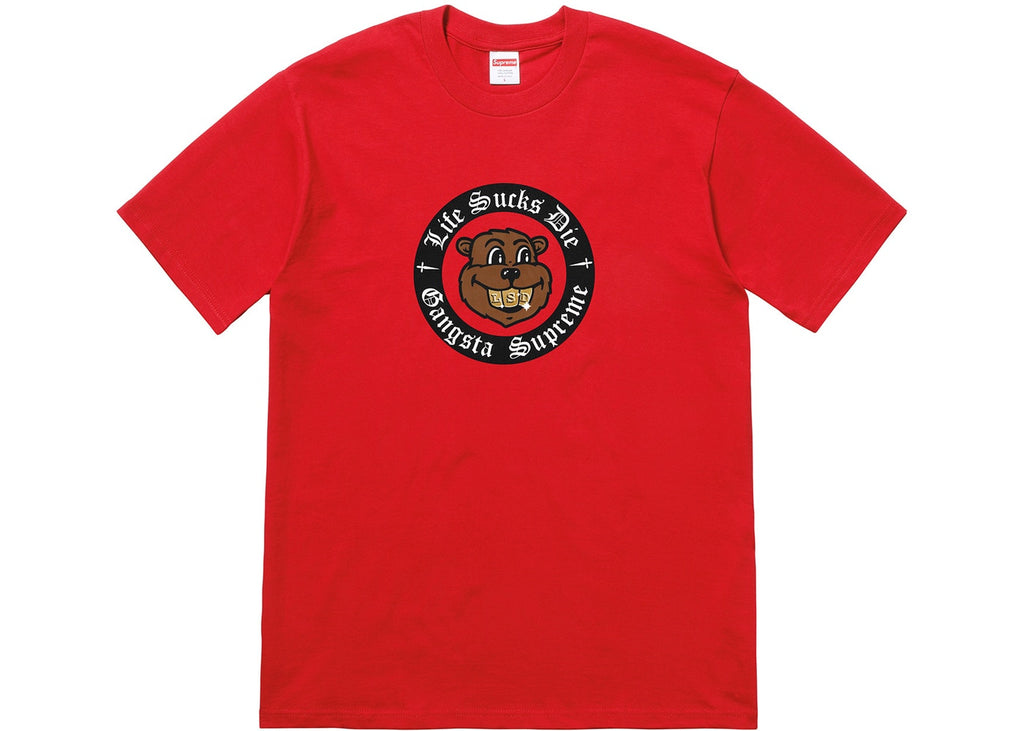Supreme Life Sucks Die Tee Red