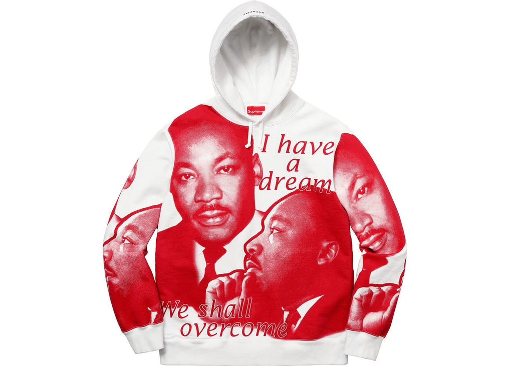 Supreme MLK Hooded Sweatshirt White