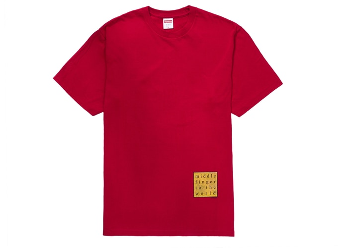 Supreme Middle Finger to the World Tee Red