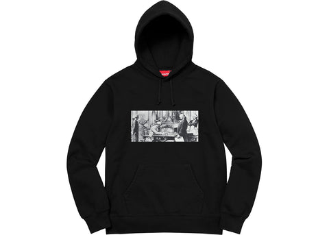 Supreme Mike Kelley Franklin Signing the Treaty of Alliance with French Officials Hooded Sweatshirt Black