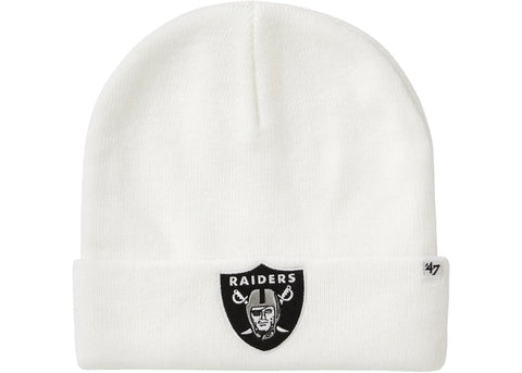 Supreme NFL x Raiders x '47 Beanie White