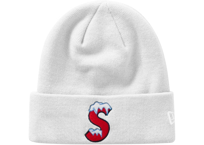 Supreme New Era S Logo Beanie (FW20) White