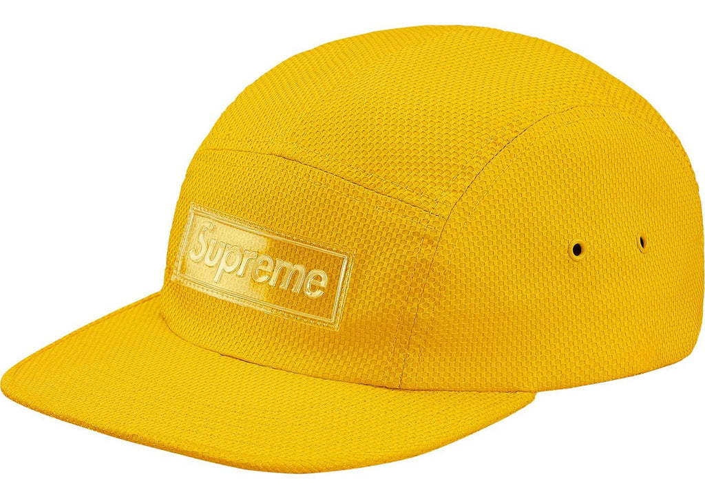 Supreme Nylon Pique Camp Cap Yellow