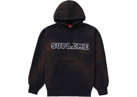 Supreme Patchwork Hooded Sweatshirt Black