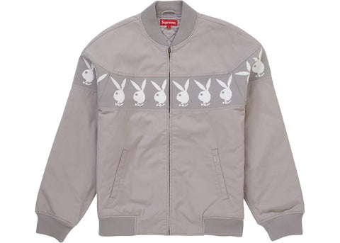 Supreme Playboy Crew Jacket Grey