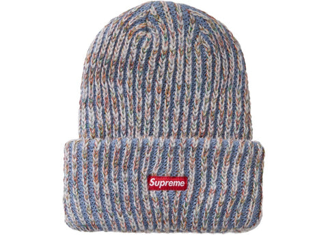 Supreme Rainbow Knit Loose Gauge Beanie Light Blue