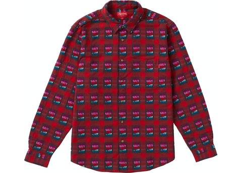 Supreme Rose Buffalo Plaid Shirt Red