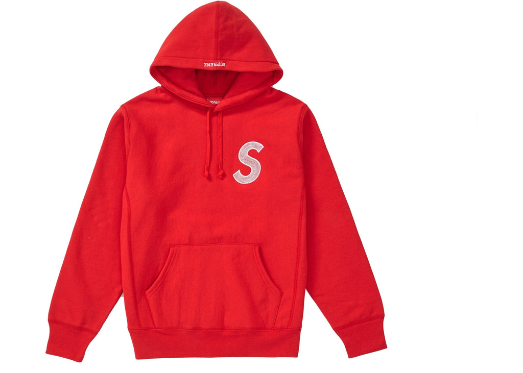 Supreme S Logo Hooded Sweatshirt (FW18) Red