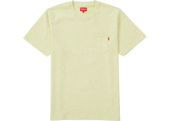 Supreme S/S Pocket Tee Pale Yellow