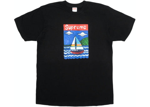 Supreme Sailboat Tee Black