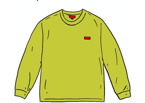 Supreme Small Box L/S Tee Dark Lime