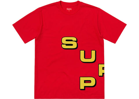 Supreme Stagger Tee Red