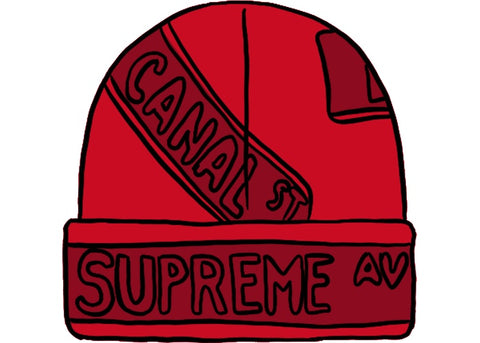 Supreme Street Signs Beanie Red