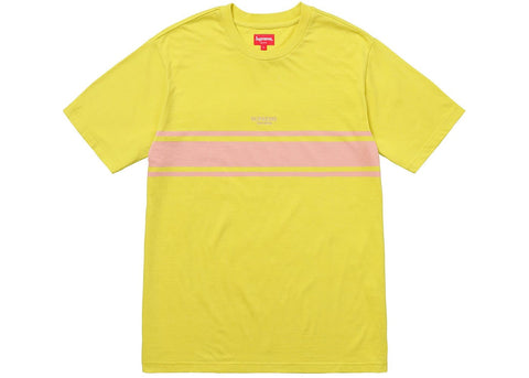 Supreme Stripe Tee Dark Yellow