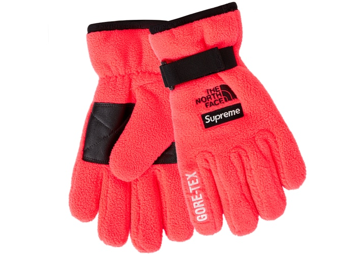 Supreme The North Face RTG Fleece Glove Bright Red