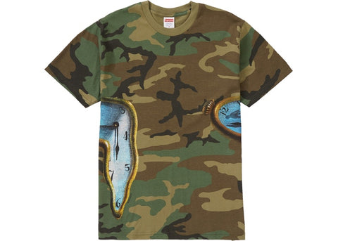Supreme The Persistence Of Memory Tee Woodland Camo
