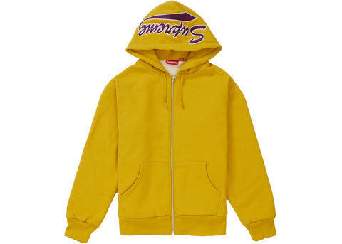Supreme Thermal Zip Up Sweatshirt Mustard