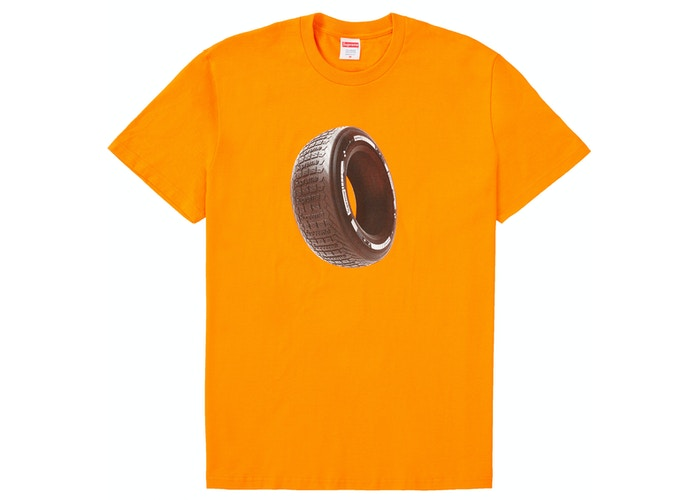 Supreme Tire Tee Orange