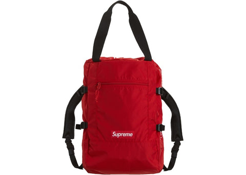 Supreme Tote Backpack Red