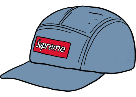 Supreme Washed Chino Twill Camp Cap (SS21) Denim