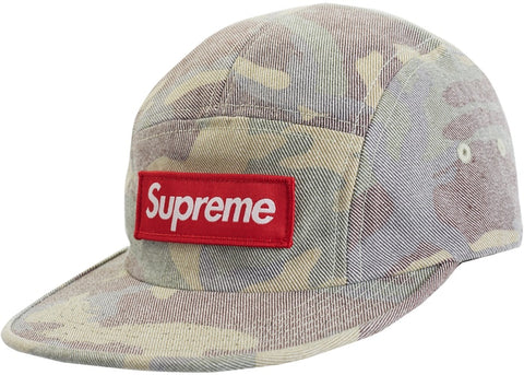 Supreme Washed Out Camo Camp Cap Woodland Camo