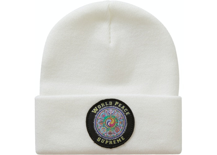 Supreme World Peace Beanie White