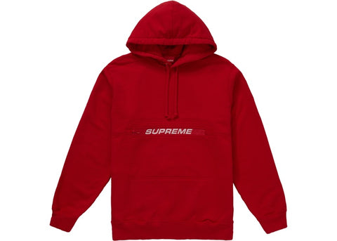 Supreme Zip Pouch Hooded Sweatshirt Red