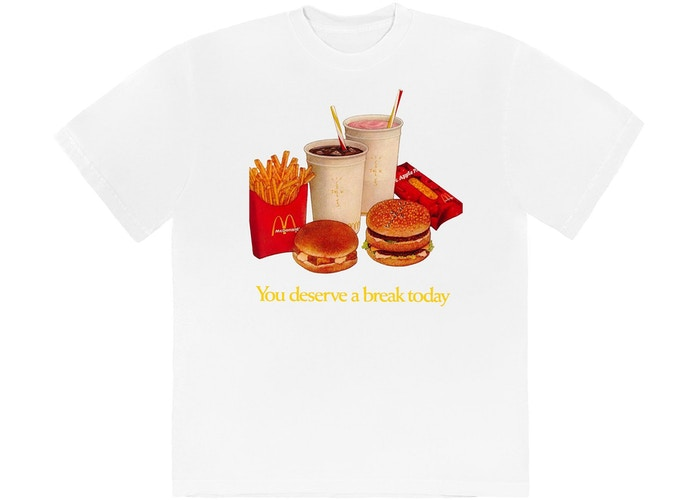 Travis Scott x McDonald's Deserve A Break II T-Shirt White
