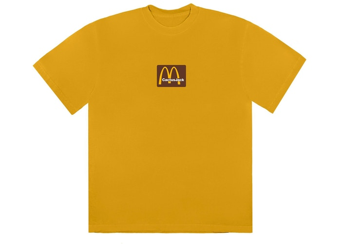 Travis Scott x McDonald's Sesame Inv II T-Shirt Gold