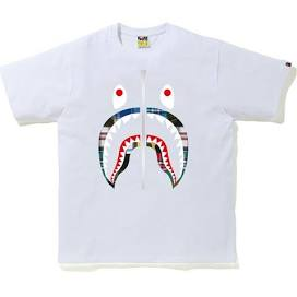 BAPE Patchwork Shark T-Shirt White