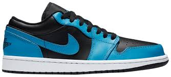 Jordan 1 Low Laser Blue Black