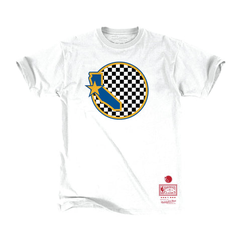 Mitchell & Ness Checkered Fill Logo Tee Golden State Warriors