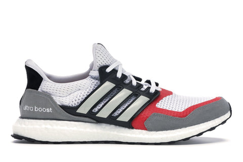 adidas Ultra Boost SL White Grey Scarlet