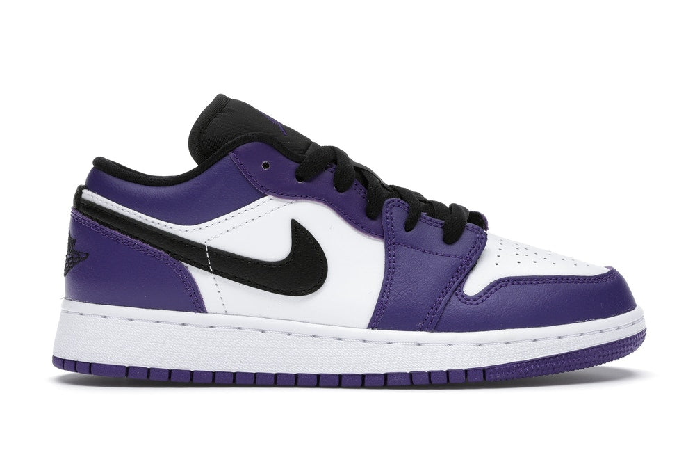 Jordan 1 Low Court Purple White (GS)