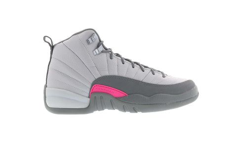 Air Jordan 12 Retro Wolf Grey Vivid Pink (GS)
