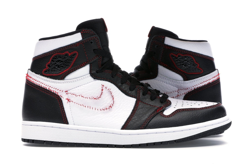 Air Jordan 1 Retro High Defiant White Black Gym Red
