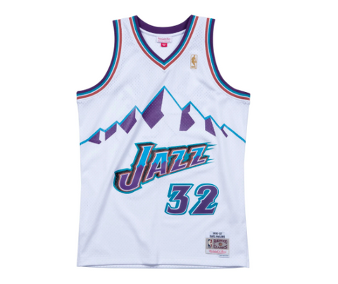 Utah Jazz Karl Malone Mitchell & Ness Throwback Swingman Jersey