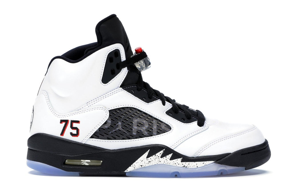 detailed look 345d4 e2390 Air Jordan Retro 5 Retro Paris Saint-Germain White (F&F)