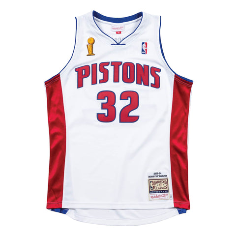 Richard Hamilton Authentic Mitchell & Ness Pistons Championship Jersey