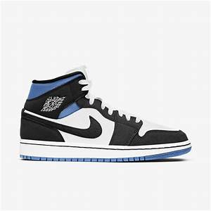 Jordan 1 Mid University Black White (W)