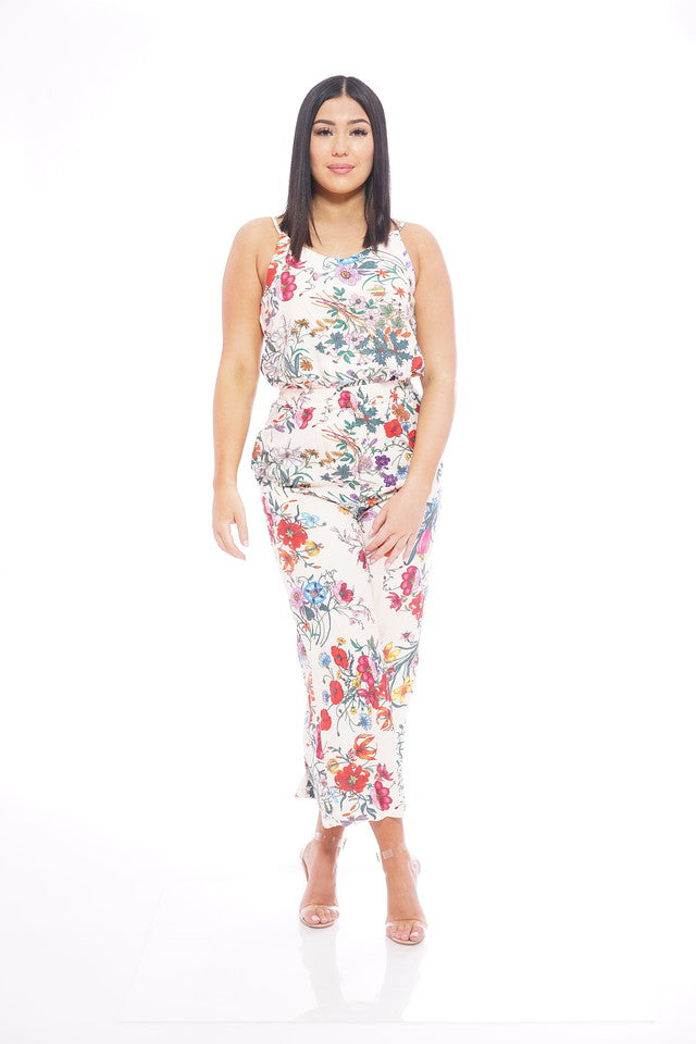 Floral Pants Cami Set