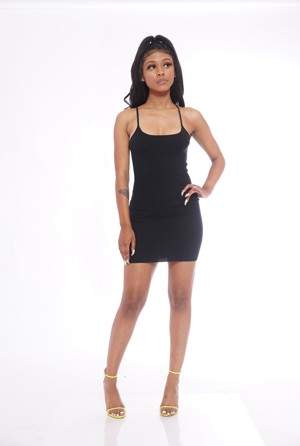 Basic Black Ribbed Dress