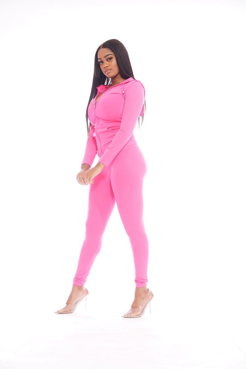 Hot Pink Leggings Set