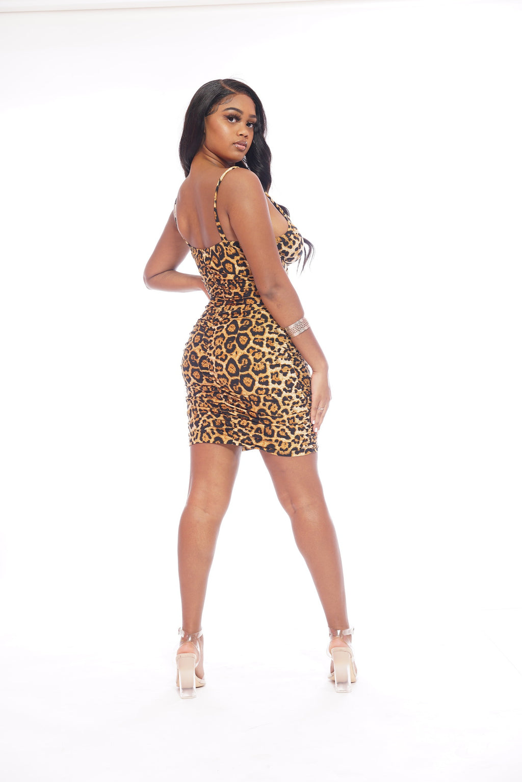 Cheetah Scrunch Dress