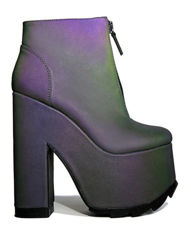 Iridescent Open Toe Heel