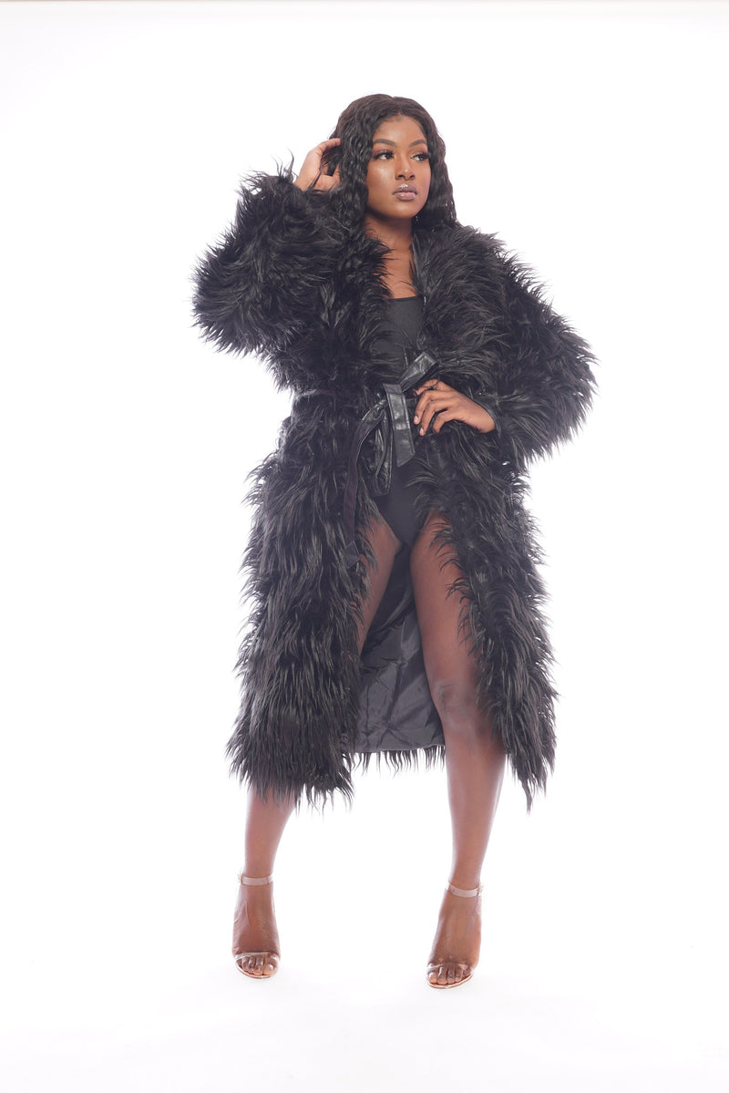 Black a Faux Fur Jacket