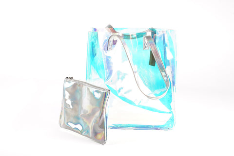 Reflective Hand Bag with Clutch